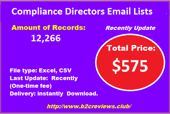 Compliance Directors Email Lists