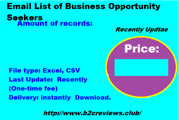 Email List of Business Opportunity Seekers