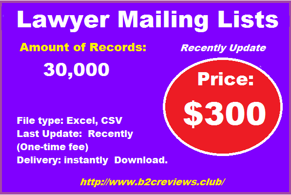 Lawyer Mailing Lists