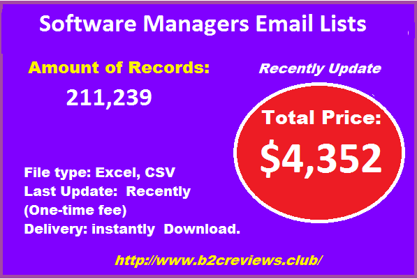 Software Managers Email Lists